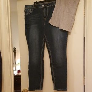 Vanilla Star Jeans skinny 18 decorative distressed